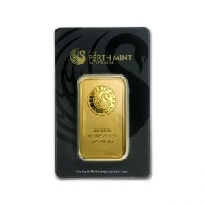 Sztabka złota 100g Perth Mint