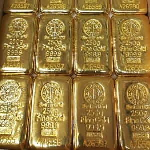 Sztabki złota z Warszawy