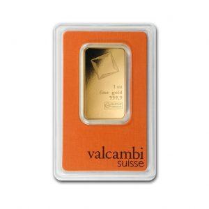 Sztabka złota 1 uncja Valcambi/Umicore