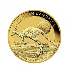 Australian Kangaroo 1/2 uncji złota