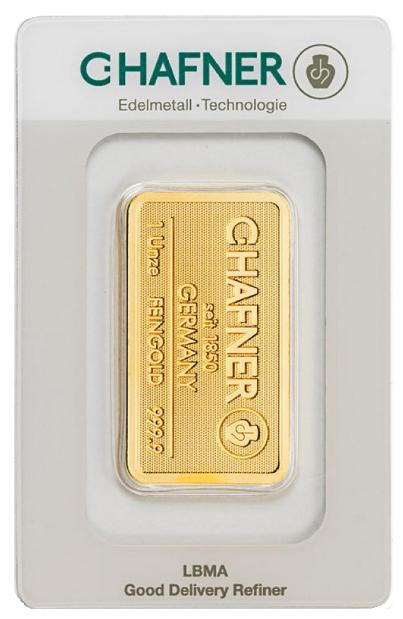 Sztabka złota 1 uncja LBMA