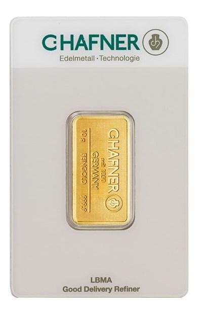 Sztabka złota 10g C.Hafner