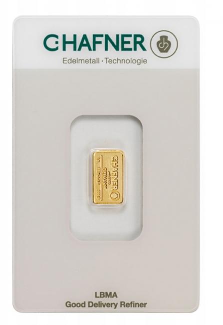 Sztabka złota LBMA 1g