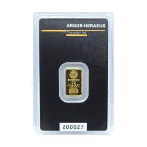 Sztabka złota 2g Argor Heraeus