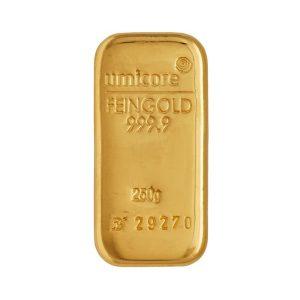 Sztabka złota 250g Umicore