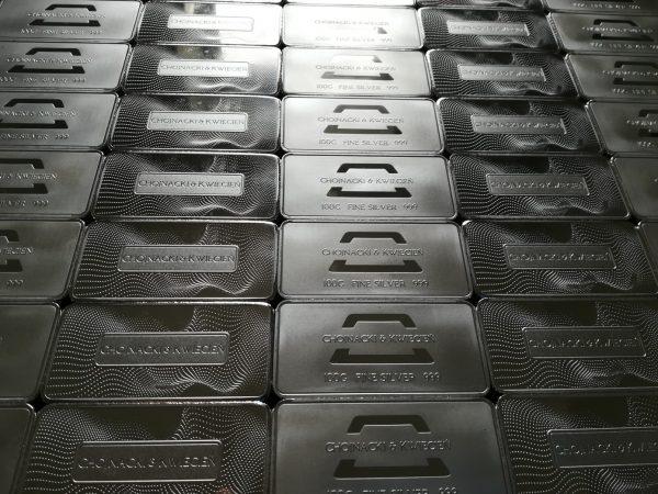 Inwestycyjne sztabki srebra 999