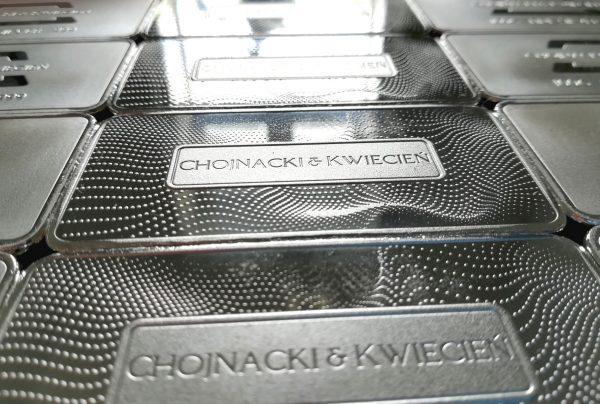 Sztabki srebra Chojnacki & Kwiecień