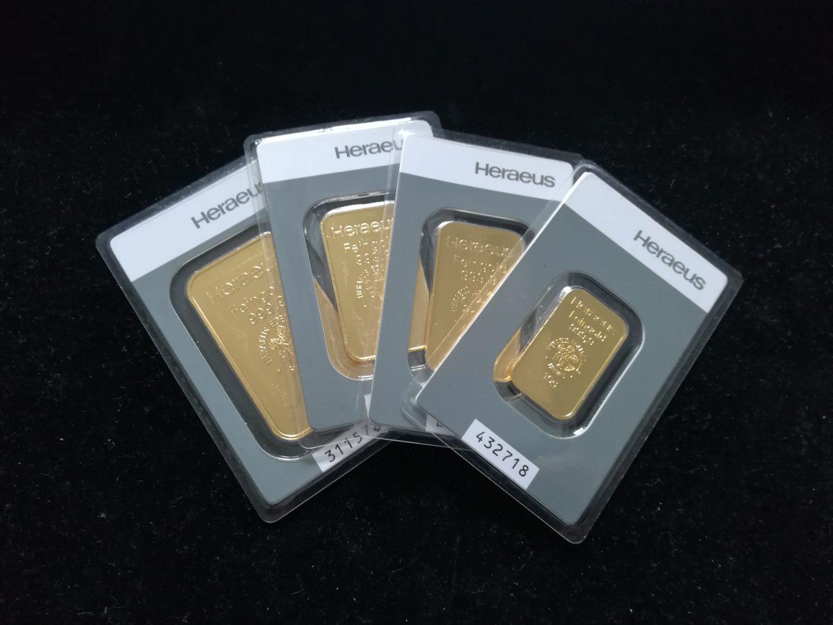 Sztabki złota w okazyjnej cenie