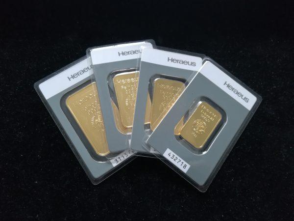 100g sztabek złota. Heraeus