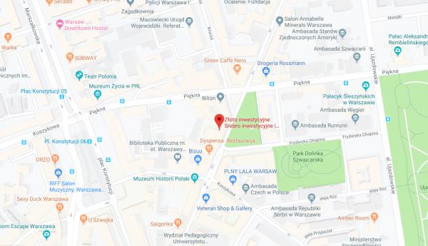 Gdzie kupić sztabki złota w Warszawie