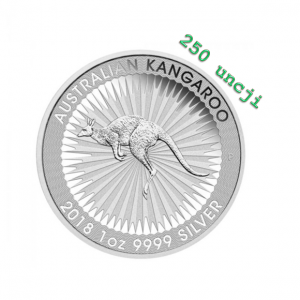 Australian Kangaroo 250 uncji srebra
