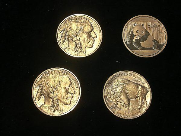 Złote monety bulionowe