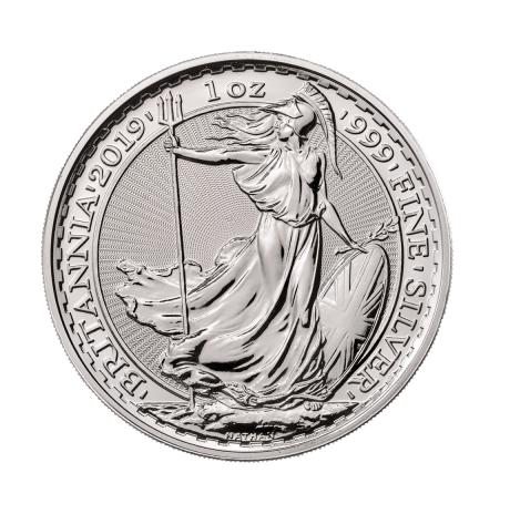 Srebrna moneta Brittania