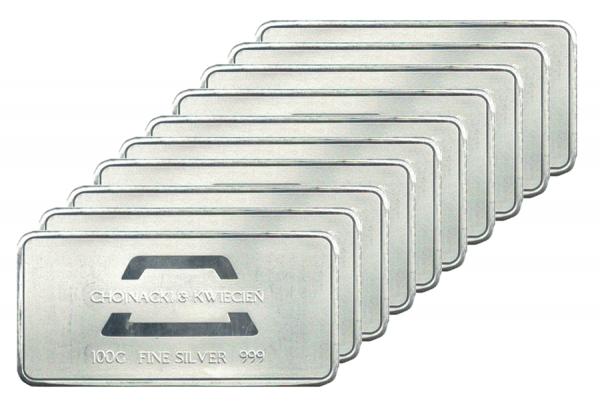 Sztabka srebra 100g