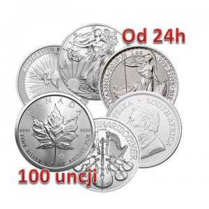 Srebro inwestycyjne LBMA 100 uncji monet srebra